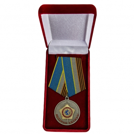 """Медаль СВР """"Ветеран службы"""" - в футляре"""