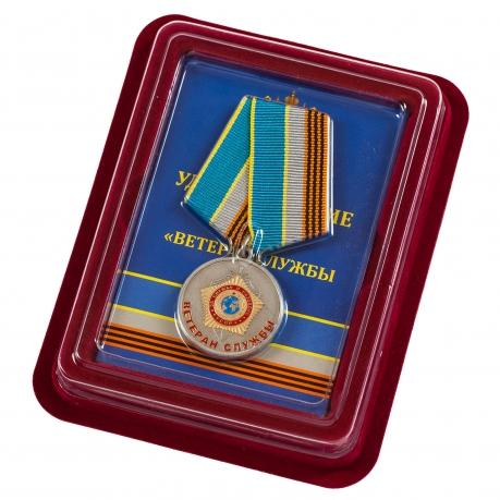 """Медаль СВР """"Ветеран службы"""" в наградном футляре"""