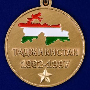 """Медаль """"Участник боевых действий в Таджикистане"""" в наградном футляре от Военпро"""