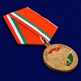 """Купить медаль """"Участник боевых действий в Таджикистане"""" в наградном футляре"""