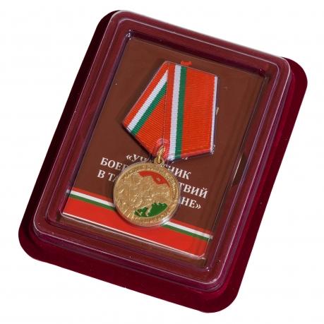 """Медаль """"Участник боевых действий в Таджикистане"""" в наградном футляре"""