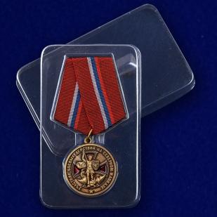 Медаль Участнику боевых действий на Северном Кавказе - в пластиковом футляре