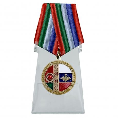 Медаль Учение Щит Союза-2015 на подставке