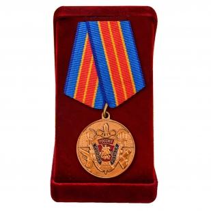 """Медаль """"Уголовному розыску - 100 лет"""" в футляре"""