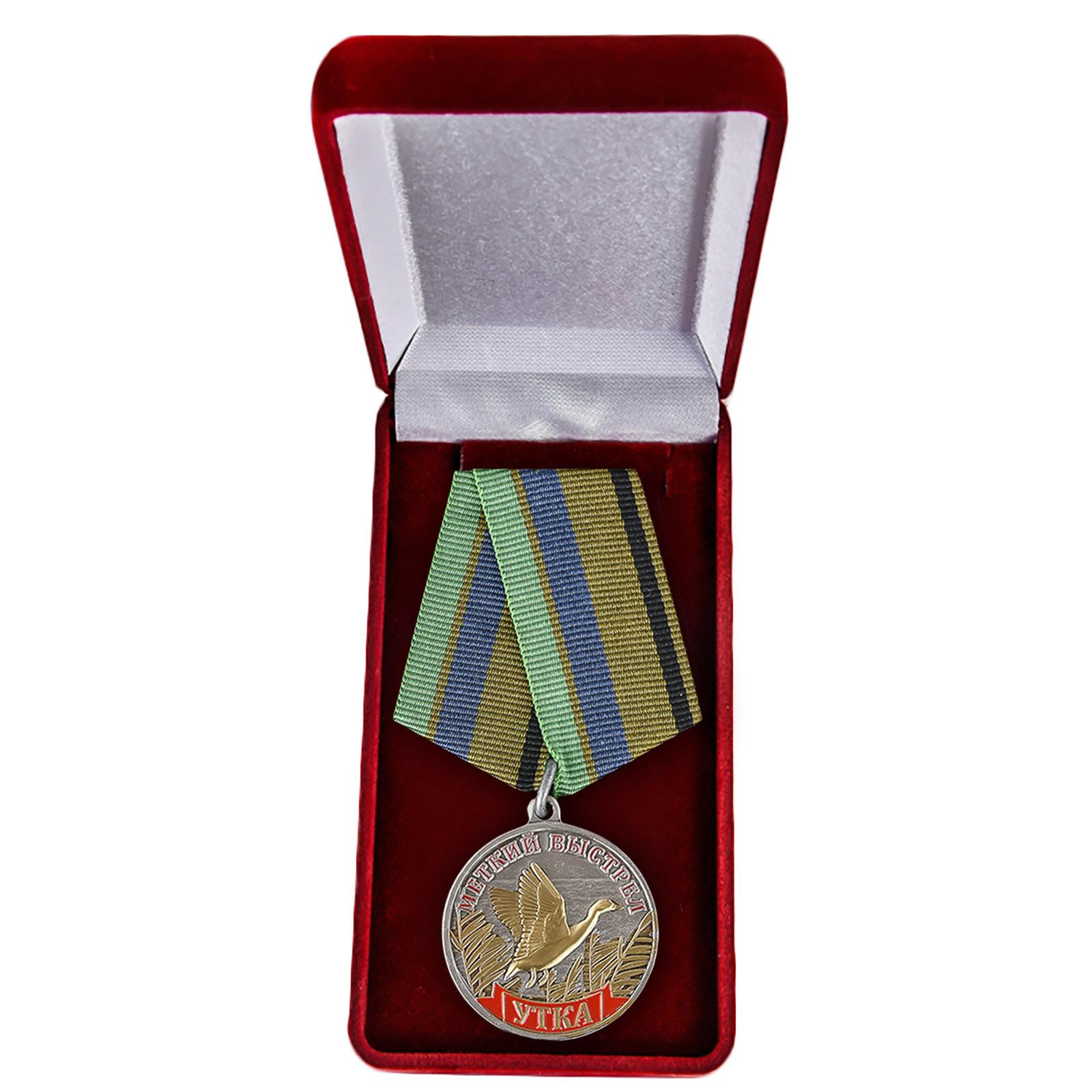 "Медаль ""Утка"" в нарядном футляре"
