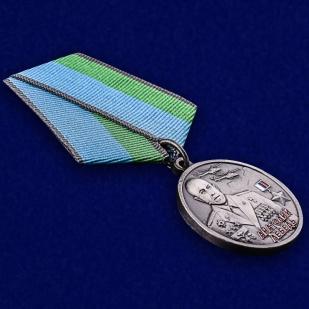 Медаль ВДВ Анатолий Лебедь в футляре с удостоверением - общий вид
