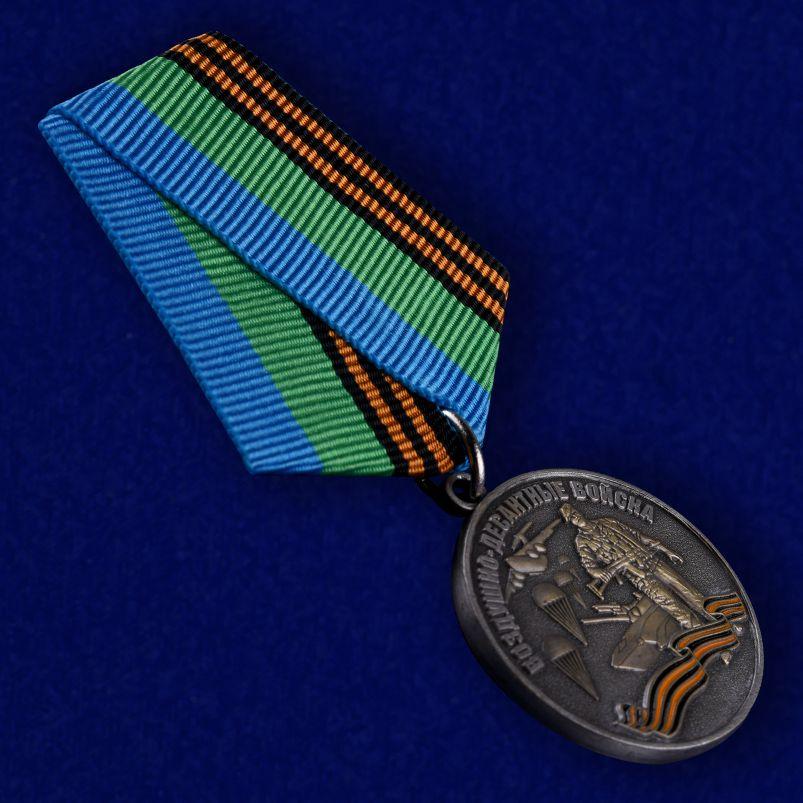 """Медаль ВДВ """"Воздушный десант"""" в красивом футляре из флока - общий вид"""