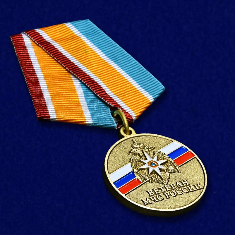 Медаль Ветеран МЧС России - общий вид