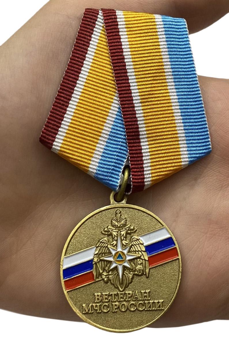 """Медаль """"Ветеран МЧС России"""" с доставкой"""
