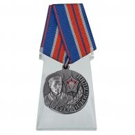 Медаль Ветеран милиции на подставке