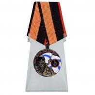 Медаль Ветеран Морской пехоты на подставке