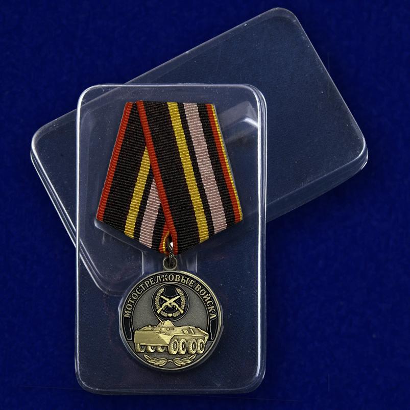 Медаль Мотострелковых войск (Ветеран) в футляре