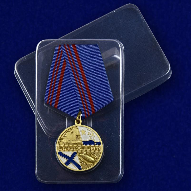 Футляр к медали «Ветеран ВМФ» Флот, честь, отечество