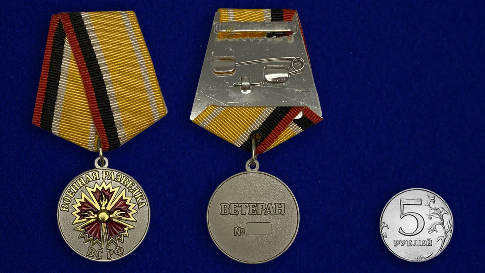 Медаль Ветеран Военной разведки - сравнительный размер