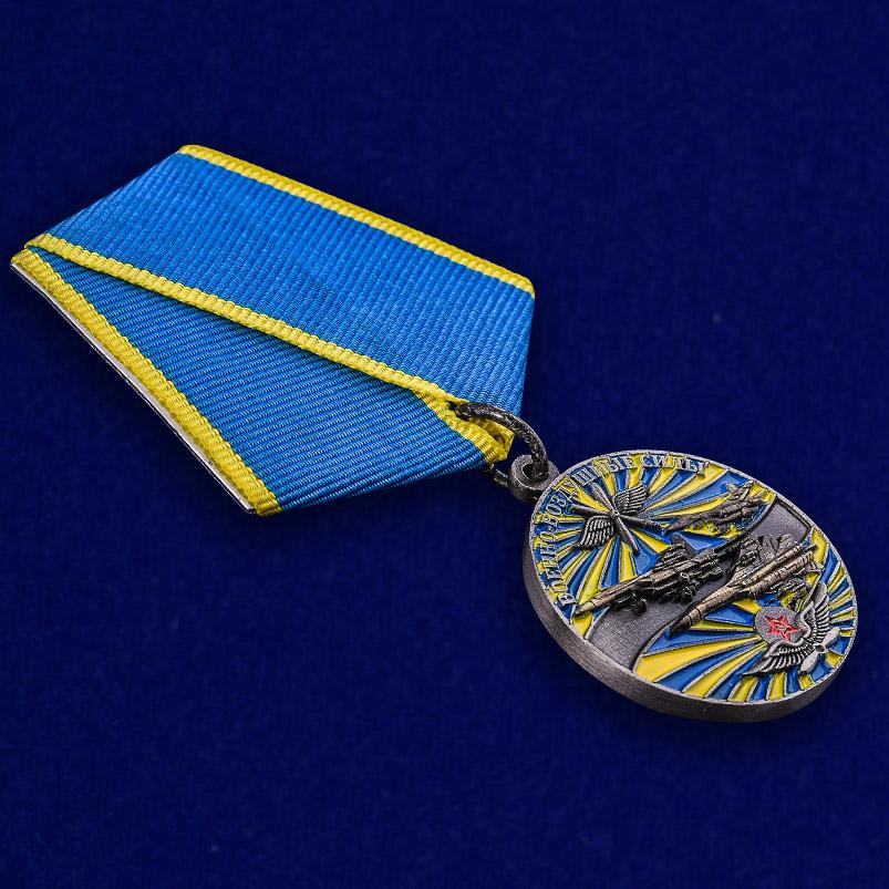 """Медаль """"Ветеран ВВС"""" в футляре с удостоверением - общий вид"""