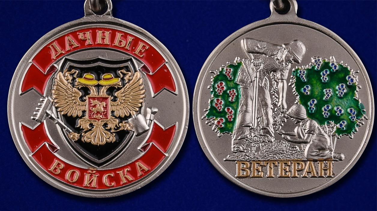 Медаль Ветерану Дачных войск - аверс и реверс