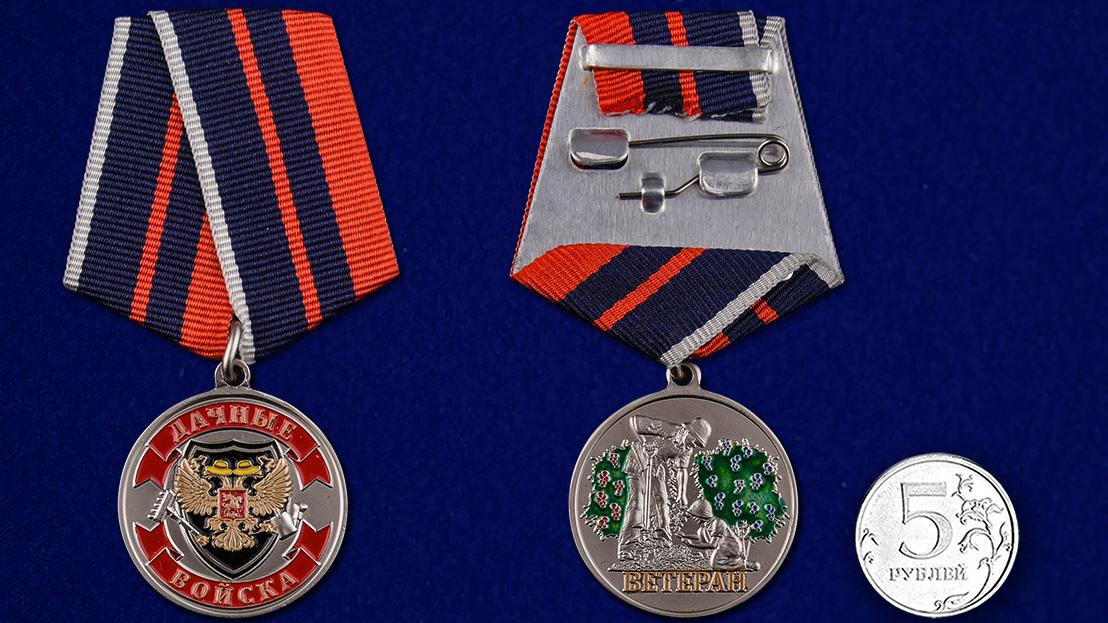 Медаль Ветерану Дачных войск - сравнительный вид