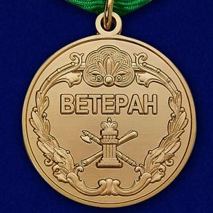 Купить медаль Ветерану ФССП в нарядном бархатистом футляре из флока