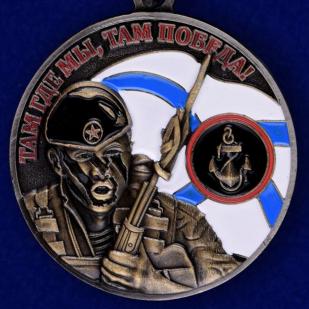 Медаль Ветерану Морской пехоты в футляре из флока с пластиковой крышкой - купить онлайн