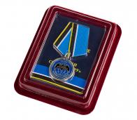 """Медаль ветерану """"Спецназ ГРУ"""" в футляре с покрытием из флока"""