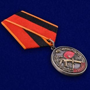 """Медаль """"Ветеран спецназа ВВ"""" в бархатистом футляре из флока - общий вид"""