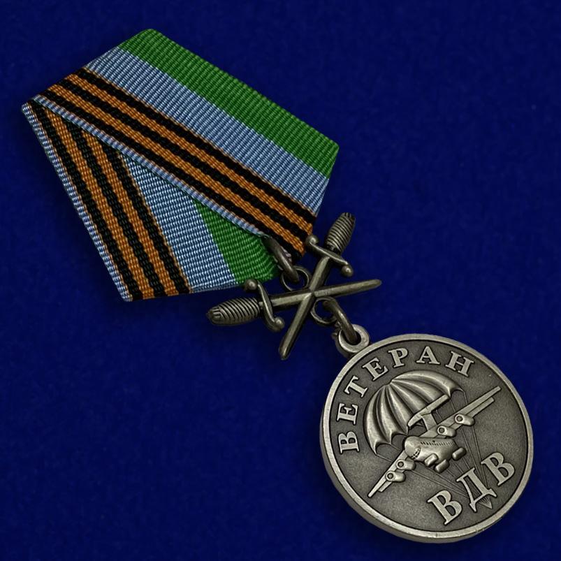 Медаль Ветерану ВДВ, с мечами-общий вид