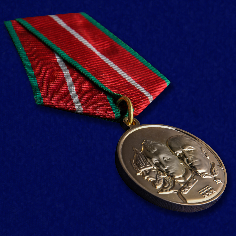 Медаль Во славу Отечества в футляре с удостоверением - общий вид