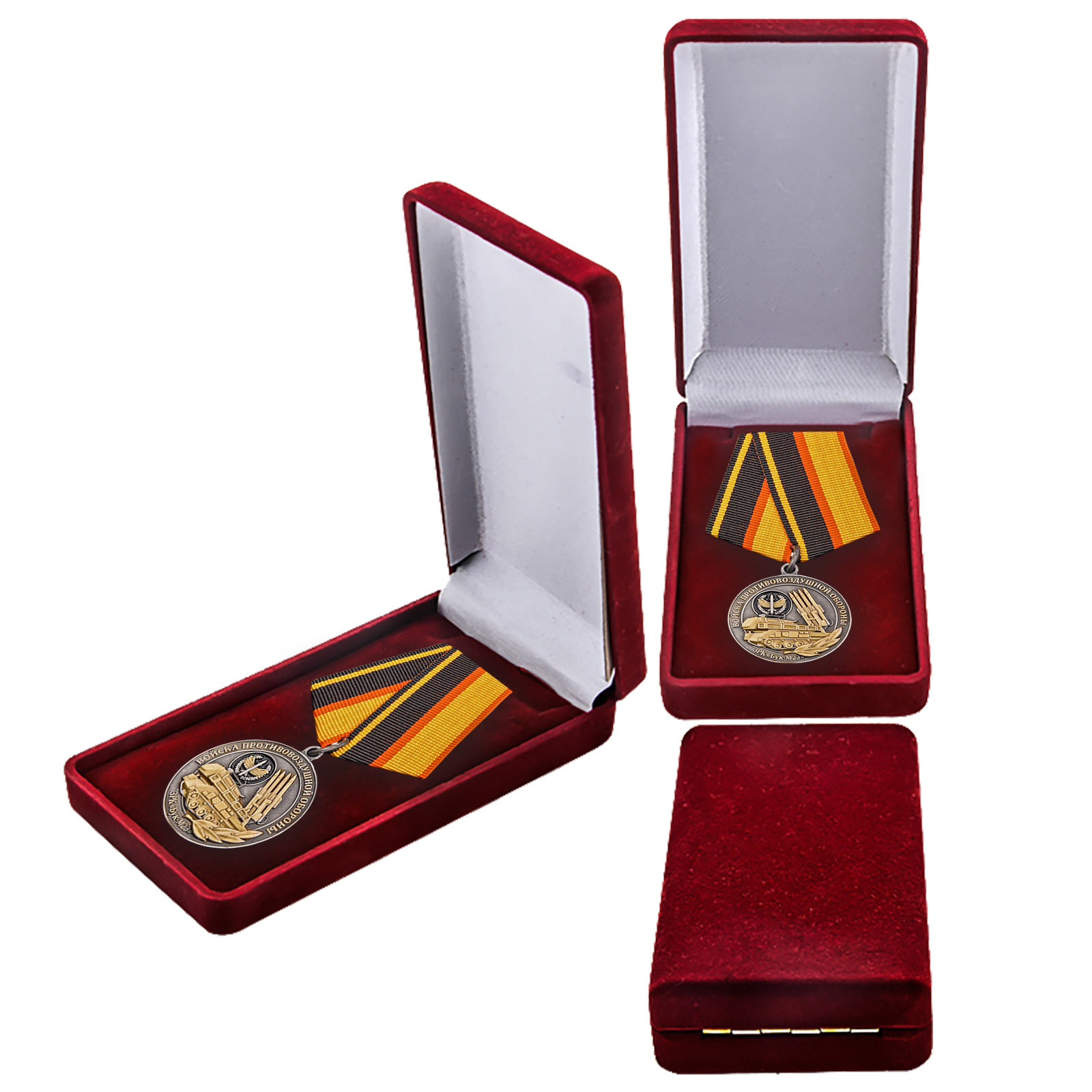 Медаль войск ПВО в футляре