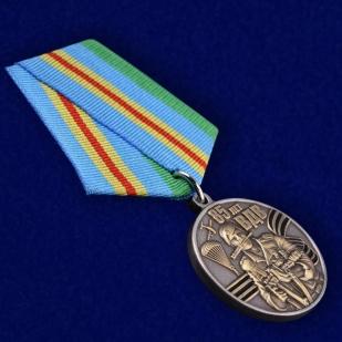 """Медаль """"Воздушный десант"""" в наградном футляре из флока - общий вид"""