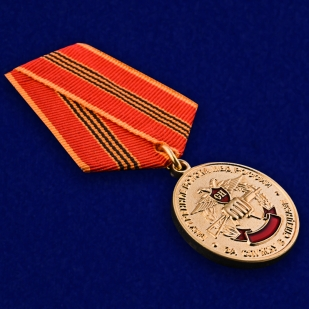 Медаль ВВ МВД РФ За службу в Спецназе в бархатистом футляре из флока - общий вид