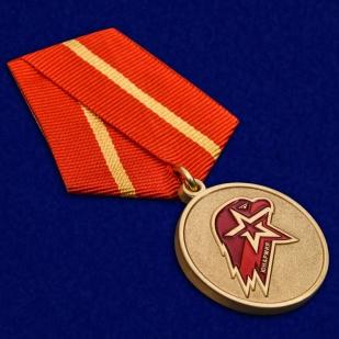 Медаль Юнармии 1 степени в футляре с удостоверением - общий вид