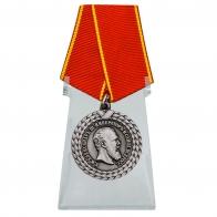 Медаль За беспорочную службу в тюремной страже Александр III на подставке