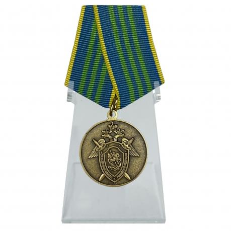 Медаль За безупречную службу в СК РФ 3 степени на подставке