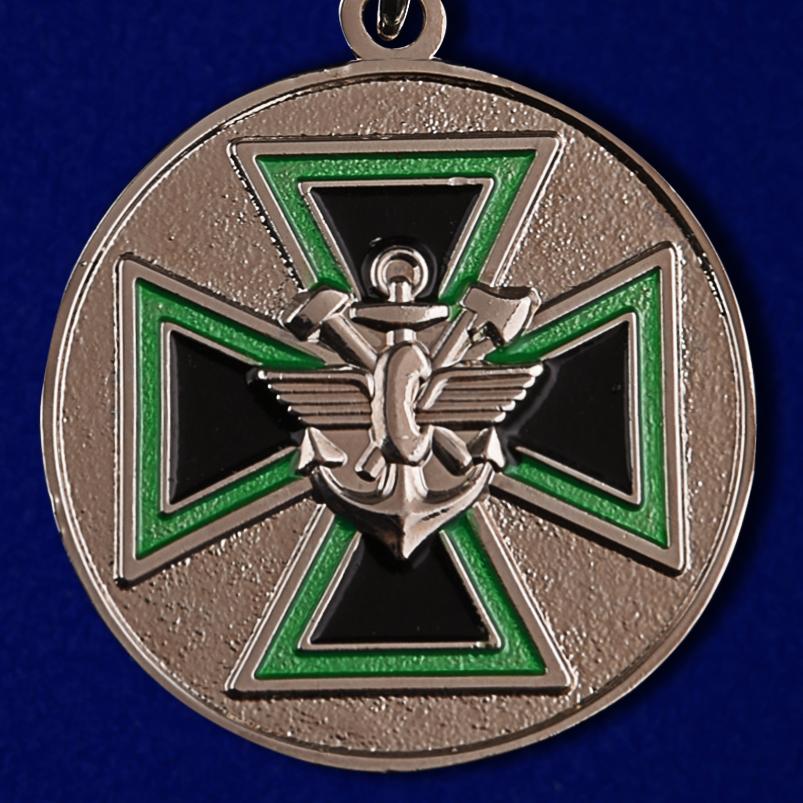 """Медаль """"За доблесть"""" ФСЖВ в бархатистом футляре из флока с прозрачной крышкой - купить в подарок"""