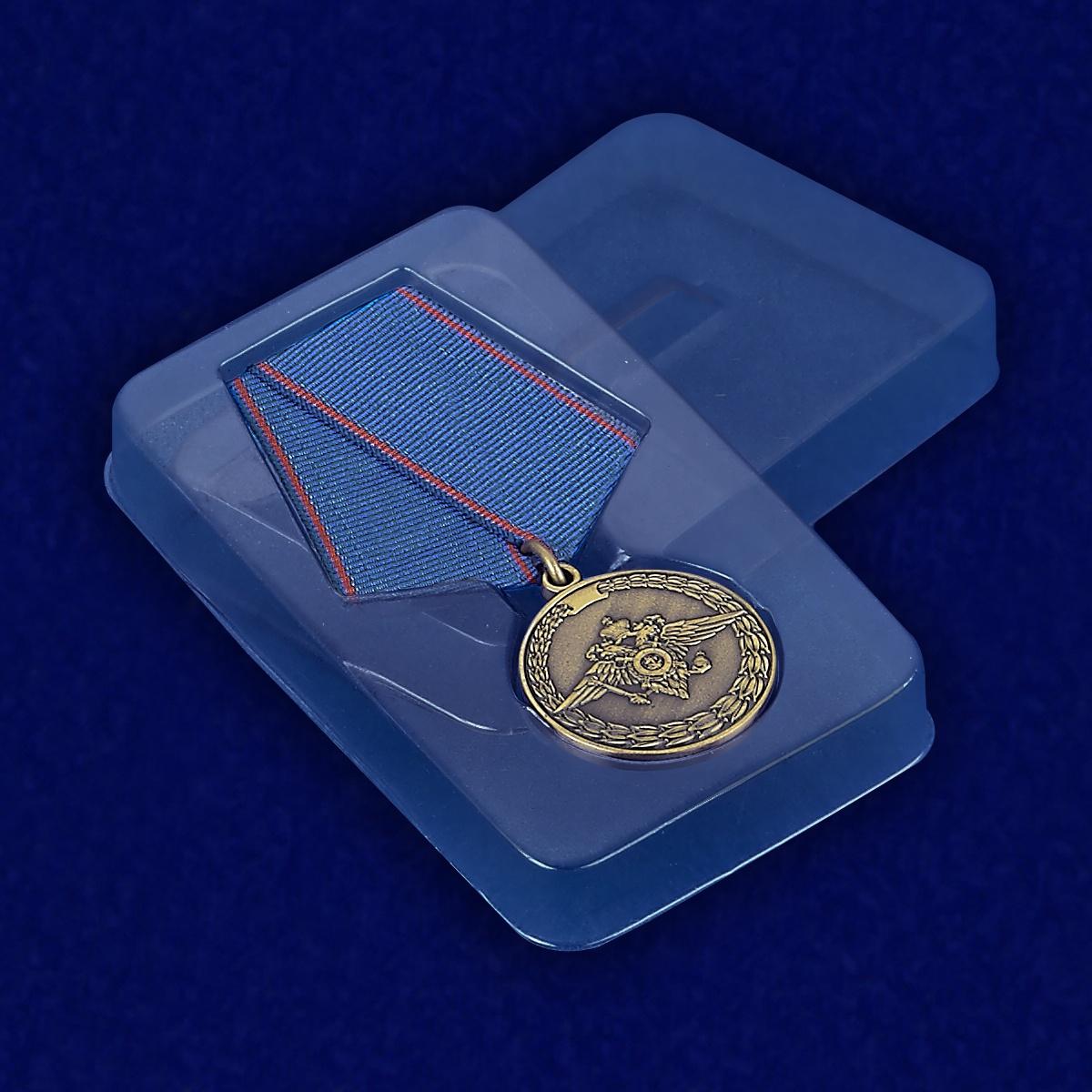 Медаль За доблесть в службе МВД - в пластиковом футляре