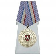 Медаль За доблестный труд Республика Крым на подставке