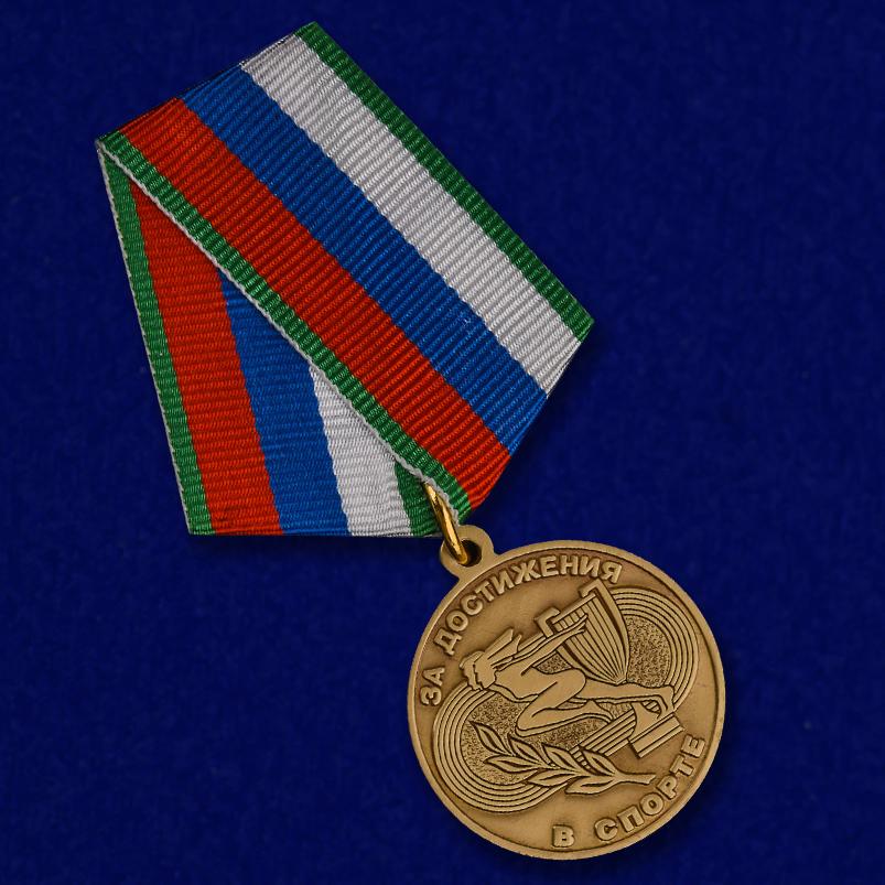 """Медаль """"За достижения в спорте"""" в солидном наградном футляре от Военпро"""