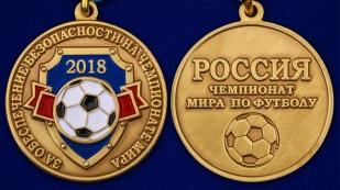 """Медаль """"За обеспечение безопасности на чемпионате мира"""" - аверс и реверс"""