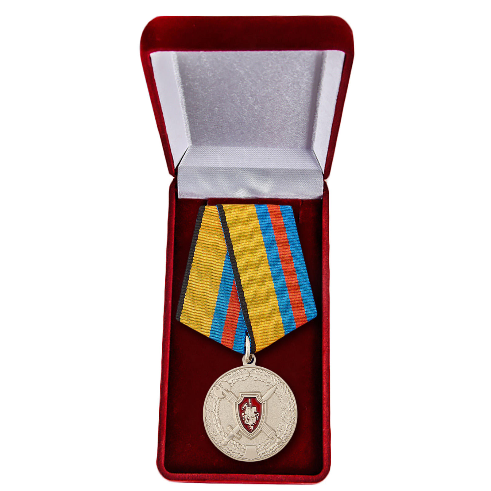 """Медаль """"За обеспечение законности и правопорядка"""" в футляре"""