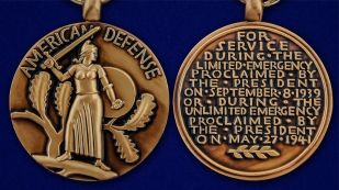Медаль За оборону Америки - аверс и реверс
