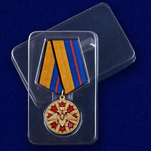 """Медаль """"За службу в Ракетных войсках стратегического назначения"""" - в футляре"""