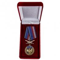 Медаль За службу в спецназе РВСН с мечами в бархатном футляре