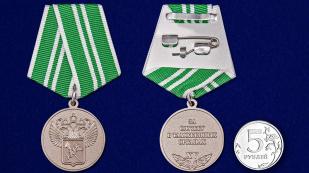 """Медаль """"За службу в таможенных органах"""" 2 степени - сравнительный размер"""