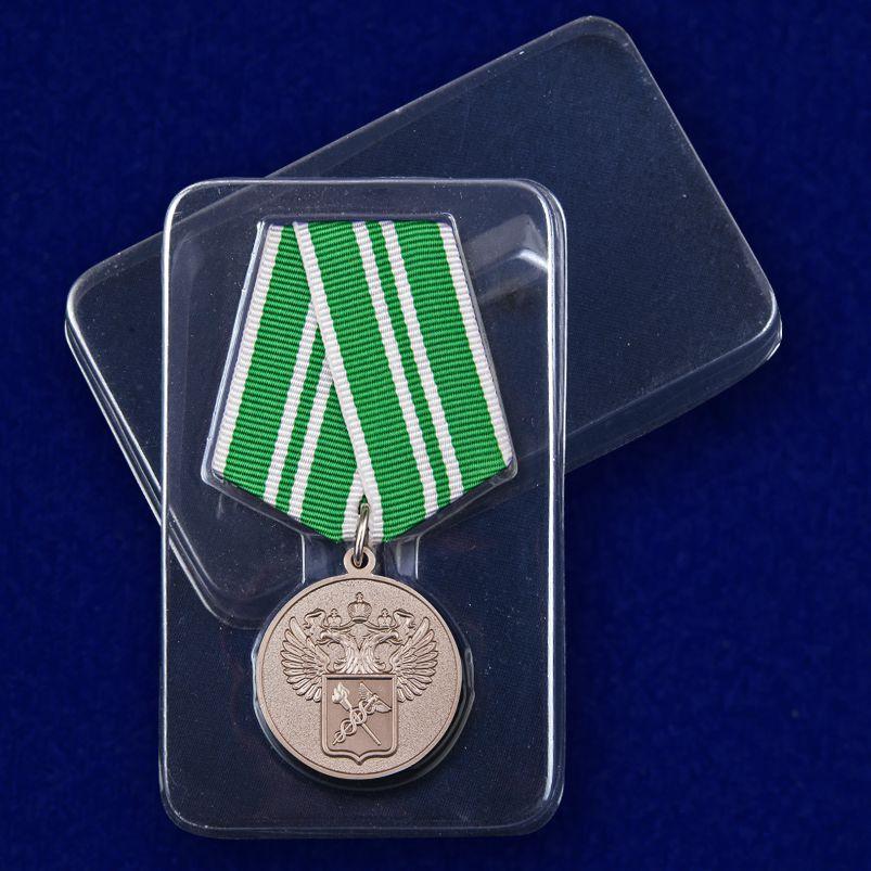 """Медаль """"За службу в таможенных органах"""" 2 степени - в футляре"""