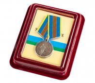 """Медаль """"ЗА службу в ВДВ"""" в бархатистом футляре с покрытием из флока"""