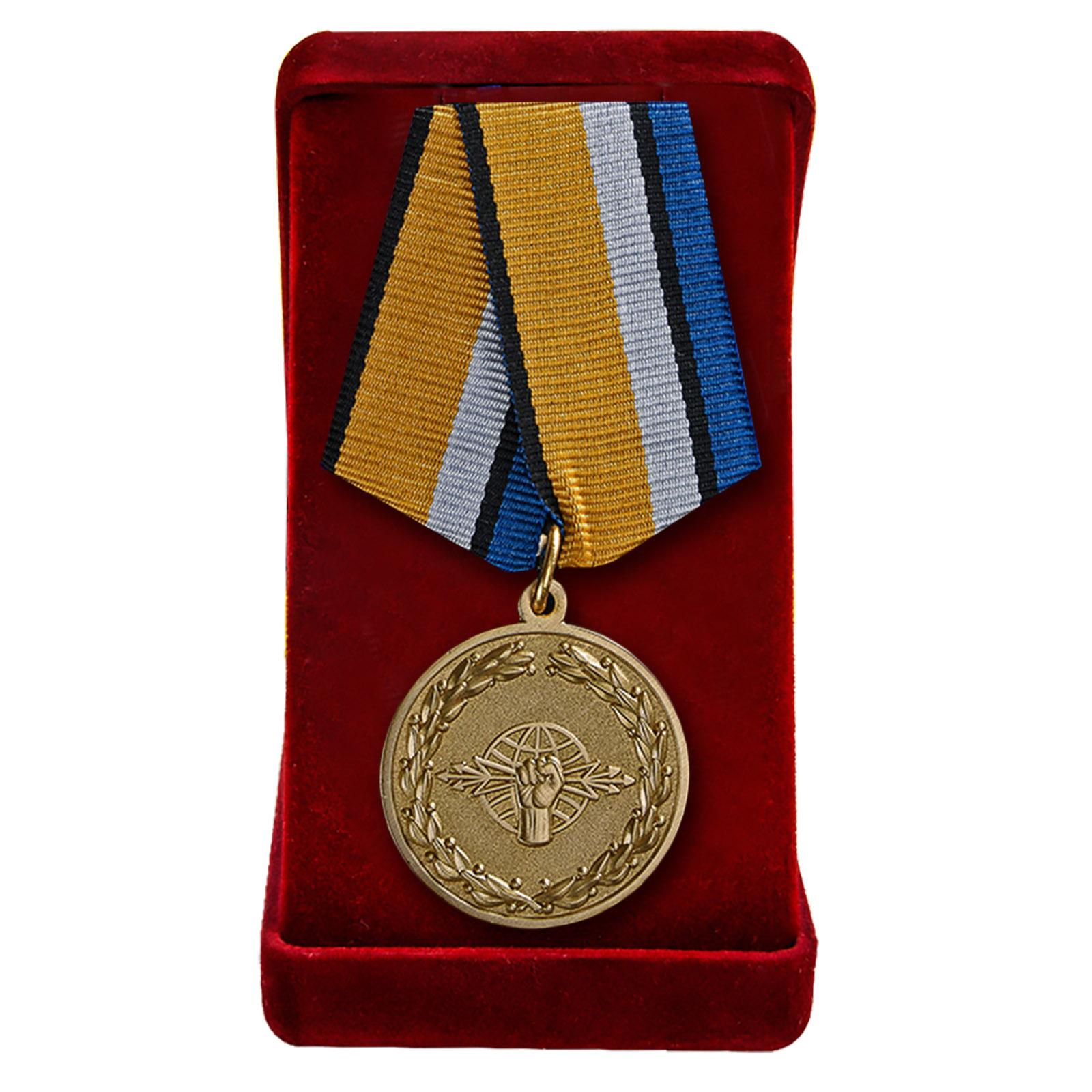 """Медаль """"За службу в войсках РЭБ"""" в футляре"""