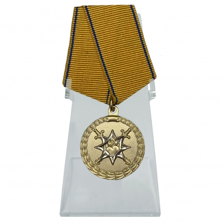 Медаль За смелость во имя спасения МВД России на подставке