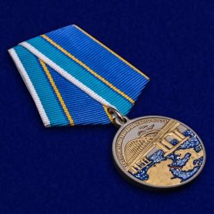 """Медаль """"За строительство Крымского моста"""" в наградном футляре от Военпро"""