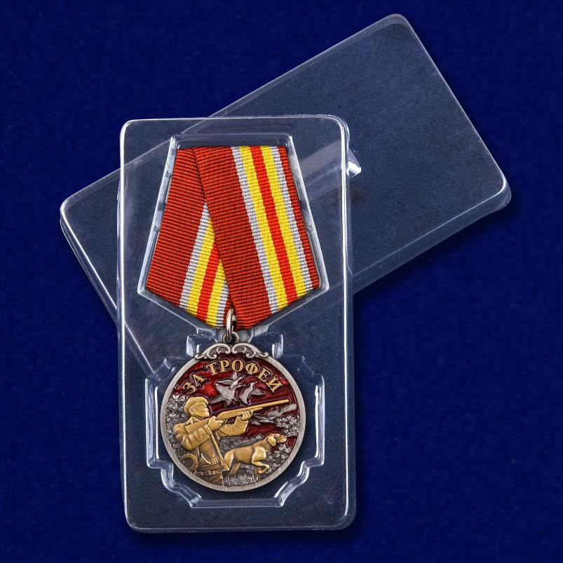 """Медаль лучшему охотнику """"За трофеи"""" с доставкой"""
