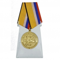 Медаль За участие в учениях на подставке